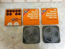 3X BOXED DUAL 8 AUTOLOAD MOVIE FILM REEL & CAN 8MM 400FT/120M PRINZ,BOOTS,SUPER
