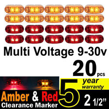 20X 12V 24V Side Marker Amber Red Clearance Lights LED Trailer Truck UTE