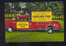 FAIRYLAND PARK AMUSEMENT PARK TRUCK ADVERTISING POSTCARD COPY