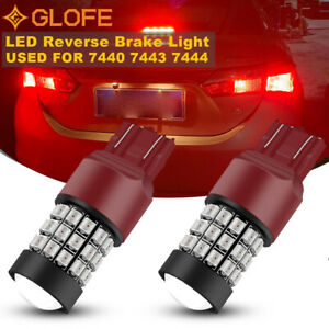 GLOFE 39SMD LED Brake/Stop Tail Light Bulb Marker Blinker Bright Pure Red 2PCS