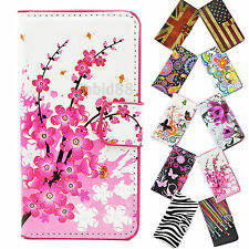 Cellphone Leather Flip Card Wallet Cover Case For Sony Xperia Z2 Z1 iPhone 5S LG