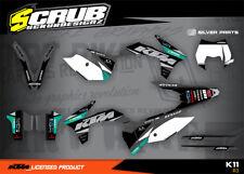 KTM graphics EXC decals kit 125 250 300 350 450 500 '12 - '13 2012 2013 SCRUB