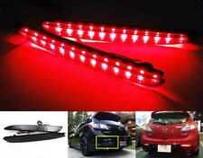 Black Smoked Lens LED for 2010+ Mazda 3 SPEED3 Bumper Reflector Tail Brake Light