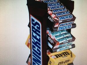 Large Vintage Snickers 4 Tier Candy Display Retail Rack Item # 09038 New In Box