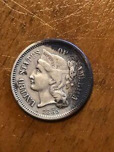 1865 us mint three cent nickel