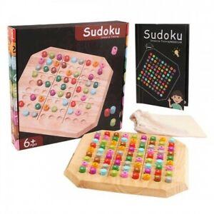 Sudoku Board Game Wooden Numbers Educational Gift Brain Games + Free Backpack