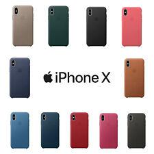 Original Apple iPhone X Leder Schutz Hülle Case Cover in OVP viele Farben verfü.