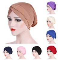 Hair Loss Scarf Cancer Chemo Cap Muslim Flower Turban Hat Hijab Head Wrap