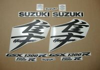Hayabusa 1340 customized matte/chrome black decals stickers graphics set kanji