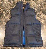 GAP KIDS Navy Blue Vest S (6-7) Zip Up Sleeveless Winter puffer