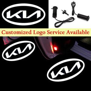 2x White New Kia Logo Car Door LED Light for FORTE RIO OPTIMA Sportage Stinger