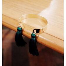 Charm Bracelets Multi-color Tassel Dangle Cuff Bangle Accessories Jewelry Green