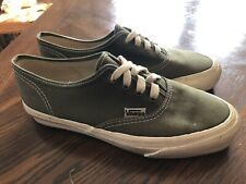 1990's Vintage Vans Era Sneakers Made in USA Olive Green Canvas Women's Size 7