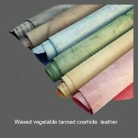 Fog Wax vegetable tanned cowhide genuine leather material for hand craft DIY