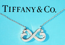 Tiffany & Co Paloma Picasso Sterling Silver Double Loving Heart Necklace