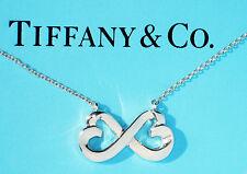 TIFFANY & Co paloma picasso double amoureux coeur collier en argent fin