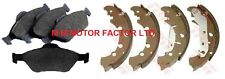 FORD FUSION (02-) 1.4 1.6 16v TDCi FRONT BRAKE PADS and REAR BRAKE DRUM SHOES