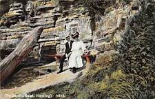 Hastings, Lovers Seat, Fancy Elegant Clothing, Couple, Bench 1910