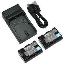 2x BATTERIES + CHARGER Combo LP-E6 EOS 5D Mark III II 7D 60D Camera Battery X2