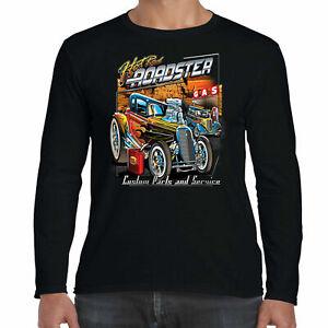 Mens Hotrod 58 Long Sleeve T Shirt Roadster Custom Garage American Street Car 15