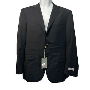 CANALI 1934 Italy 13290/37 Black 100% Wool 2 Button Suit Jacket Blazer Size 52R