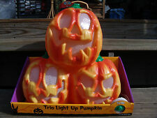 HALLOWEEN TRIO MUSICAL LIGHT UP PUMPKINS PLAYS WITCH DOCTOR NEW FREE SHIPPING
