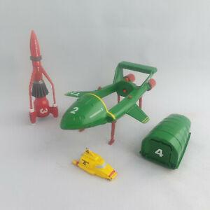Thunderbirds Lot Thunderbird 2 3 4 Matchbox 1992 T2 Diecast Plane Vehicle Rocket