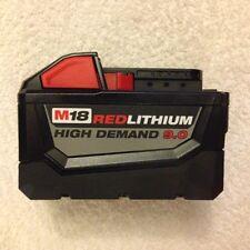 New Milwaukee 48-11-1890 M18 18V 18 Volt Red Lithium High Demand 9.0 Ah Battery