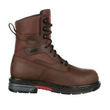 """NEW Rocky SIZE 10.5 Work Boots Men's """"Ironclad"""" LT Waterproof Brown RKK0178"""