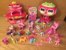 My Little Pony ROLLER SKATE PARTY CAKE pinkie pies balloon house & 20 Figures