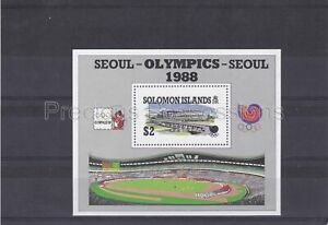SOLOMON ISLANDS MNH STAMP SHEET 1988 OLYMPIC GAMES SG MS635