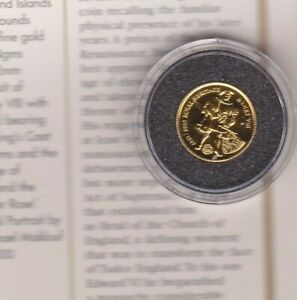 GOLD COIN 1997 FALKLAND ISLANDS HENRY VIII £2 IN MINT CONDITION WITH CERTIFICATE