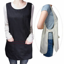 Unisex Tabard Work Apron Kitchen Cafe Bar Catering Uniforms Cleaning Workwear