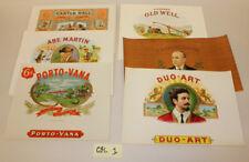 Vintage Cigar Box Labels (6) Lot CBL1