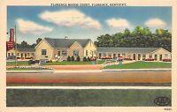 Kentucky Ky Postcard Linen FLORENCE Motor Court Roadside Motel