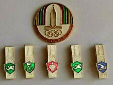 ☭6 х VTG Russian Soviet Olympics Games Moscow 80 Pins Badge USSR Nice SET