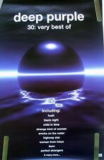 Rare Deep Purple Very Best Of 1998 Vintage Orig Music Record Store Promo Poster