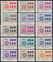 DDR-Dienst, MiNr. C 1-15 DV 2, Druckvermerk, tadellos postfrisch, Mi. 225,-