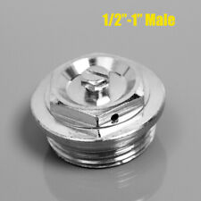 "1"" 3/4"" 1/2"" Manual Radiator Air Vent Bleed Ending Cap Plug Key Valve"