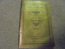 Vintage Reprint? Price List of Parts 1912 Chevrolet little Six Light Six