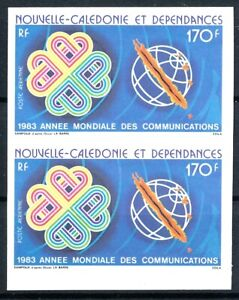 [I1861] New-Caledonia 1983 Airmail good pair of stamps very fine MNH imperf $60