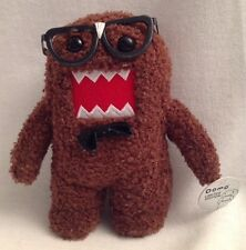 "DOMO Limited Edition Glasses Bow Tie Small Plush Toy 7"" Nerd Brown"