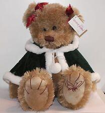 Ours Pomme Pidou : ours avec cape de noël env 40 cm
