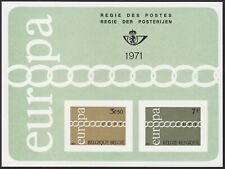 Belgium 1971 Special Proof Sheet EUROPA Issue FEUILLET DE LUXE Cob LX59....A4857