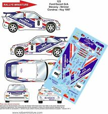 DECALS 1/43 REF 0123 ESCORT COSWORTH STEVENY CONDROZ RALLY 1997 RALLYE NO YPRES