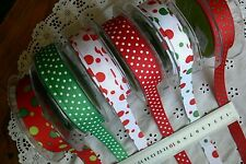 GROSGRAIN SPOTS 5 Metre Lengths 16mm Wide 6 Variety Choice  May Arts