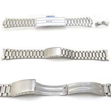 New Seiko 7009 7s26 Reloj Pulsera Correa Original Banda Acero Inoxidable 19 Mm s55m