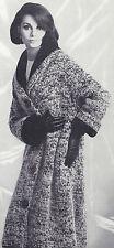 Vintage Knitting PATTERN to make Coat Shawl Collar Bulky Knit ShawlCollarCoat