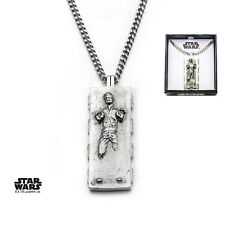 Pendentif Han Solo dans carbonite Officiel Star Wars Han Solo Carbonite Pendant