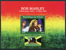 Chad 2018 CTO Bob Marley Reggae Music 1v M/S Flags Famous People Stamps